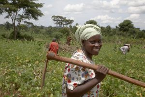 Nejjemba Teopista, farmer of Kayunga and farmer's group animator. Photo: Sean Sprague, CARITAS