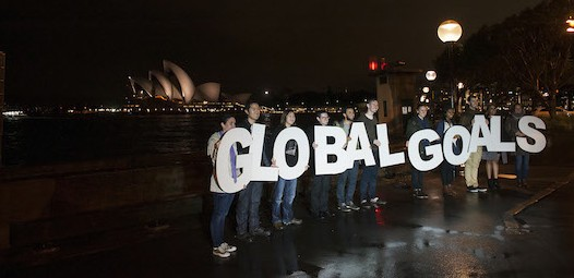 Light the Way event in Sydney, Australia for Action/2015.  For Action/2015's Global Day of Action on the 24th of September 2015, thousands around the globe will call on the world leaders to light the way for a better future for people and the planet. Of these events Action 2015 will be gathering professional photo and film from six flagship events will take place in New York City, London, Delhi, Sao Paolo, Sydney and Johannesburg.  From the 25th to 27th September this year, the United Nations is organising the historical Sustainable Development Summit 2015 in New York. During the summit World leaders will adopt the new development goals, which will have the potential to tackle poverty, inequality and climate change.