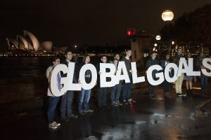 Campaigners welcome new development goals as thousands mobilise around the world