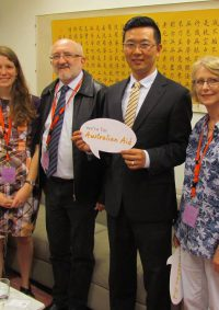 Voices for Justice participants Meeting Senator Wang to talk about Australian Aid