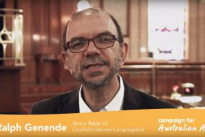 Rabbi Ralph Genende is for Australian Aid